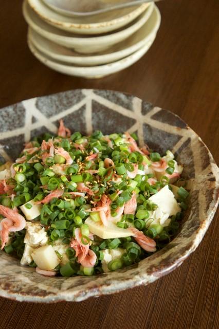 増田陽子様たっぷり小ネギと桜えびのせ豆腐