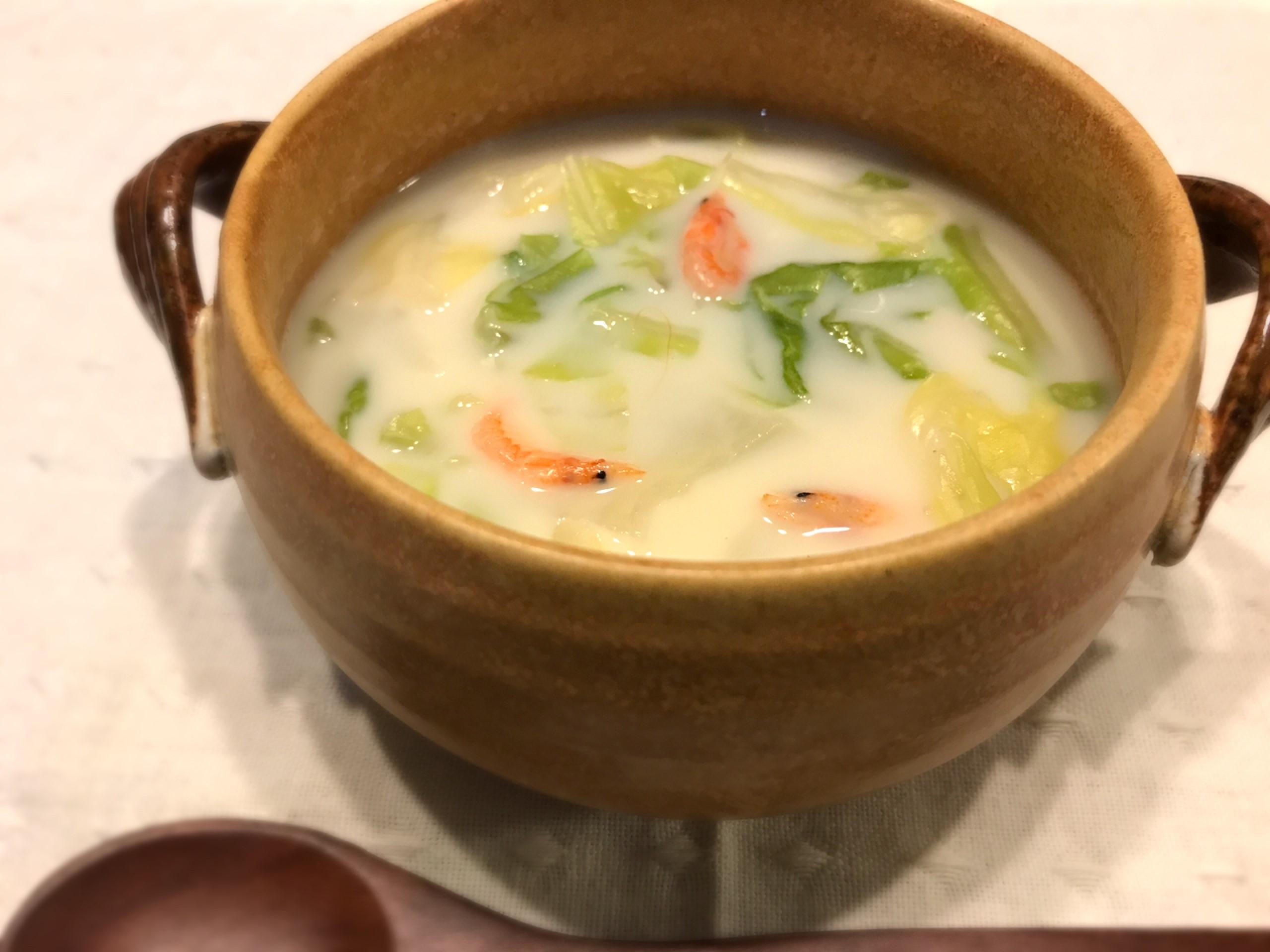 坂本茉優様  春キャベツと桜えびの塩麹豆乳スープ